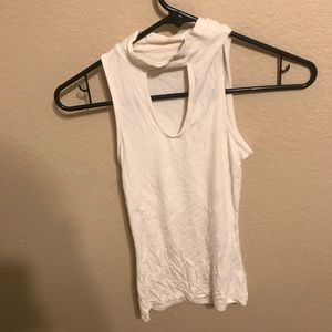 White chocked cut out top